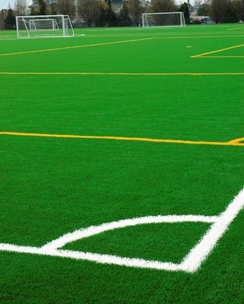 artificial grass soccer field for athletes
